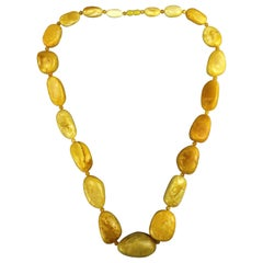 Natural Baltic White Amber Necklace