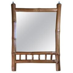 Natural Bamboo Wall Hanging Mirror
