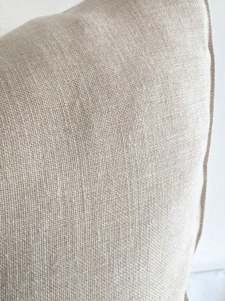 100% pure natural linen accent pillow cover Size: 20 x 20 Insert not included Envelope style closure.