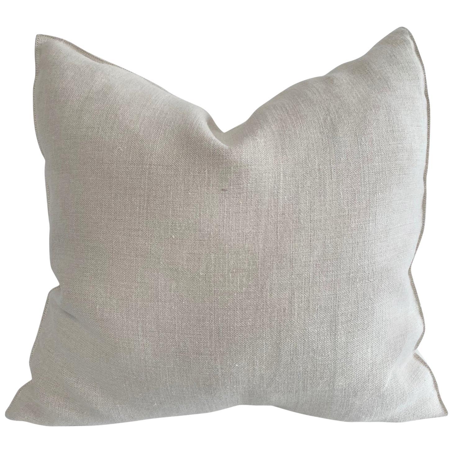 Natural Belgian Linen Accent Pillow Cover