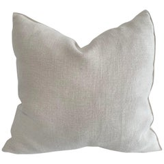 Natural Belgian Linen Accent Pillow Cover