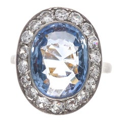 Natural Blue Sapphire Engagement Ring GIA Certified Ceylon Sapphire