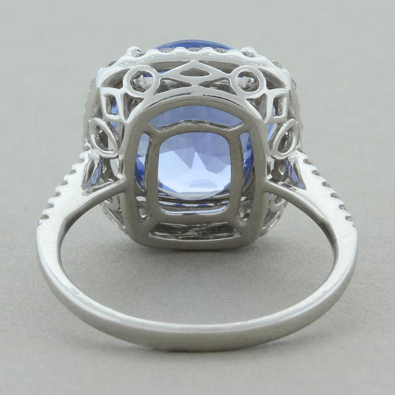 Natural Blue Sapphire Gold Ring, No-Heat Certified In New Condition For Sale In Beverly Hills, CA