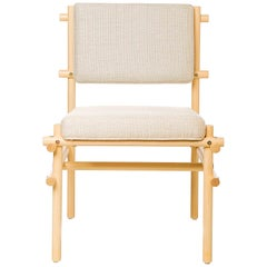Natural Brazilian Wood Pipa Chair in Naked Style from Tiago Curioni
