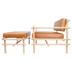 Natural Brazilian Wood Pipa Armchair in Naked Style from Tiago Curioni