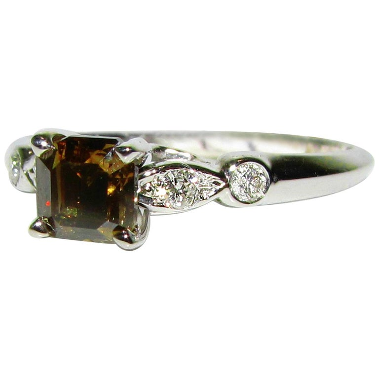 Natural Brown Color Diamond Ring Newtique For Sale At 1stdibs