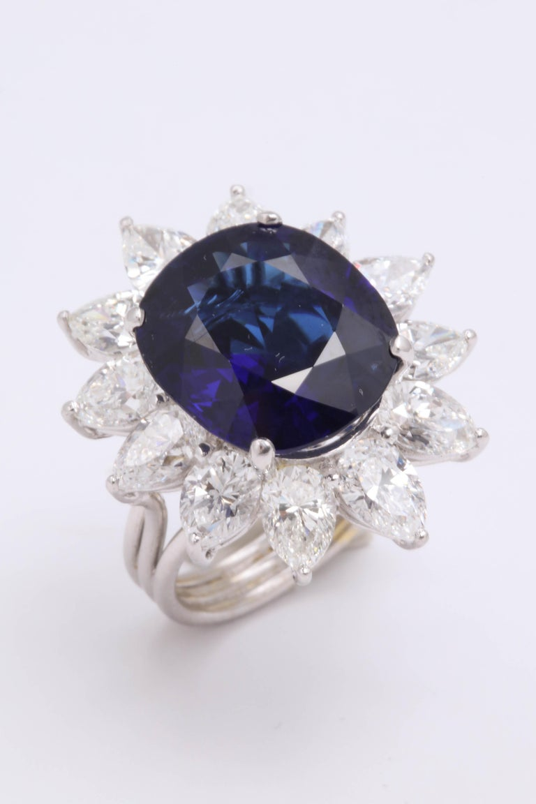 Natural Burma No Heat Blue Sapphire Ring For Sale 6