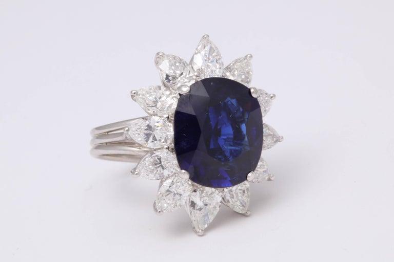 Women's Natural Burma No Heat Blue Sapphire Ring For Sale