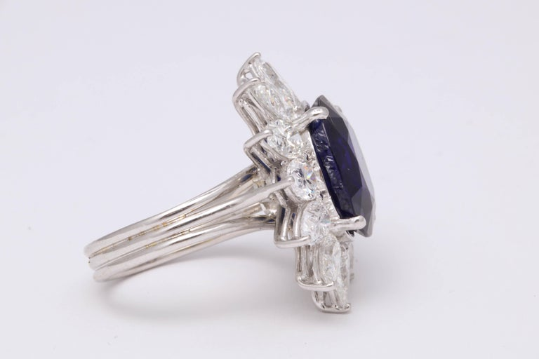Natural Burma No Heat Blue Sapphire Ring For Sale 1