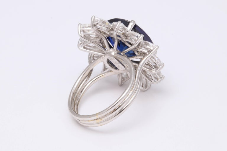 Natural Burma No Heat Blue Sapphire Ring For Sale 2