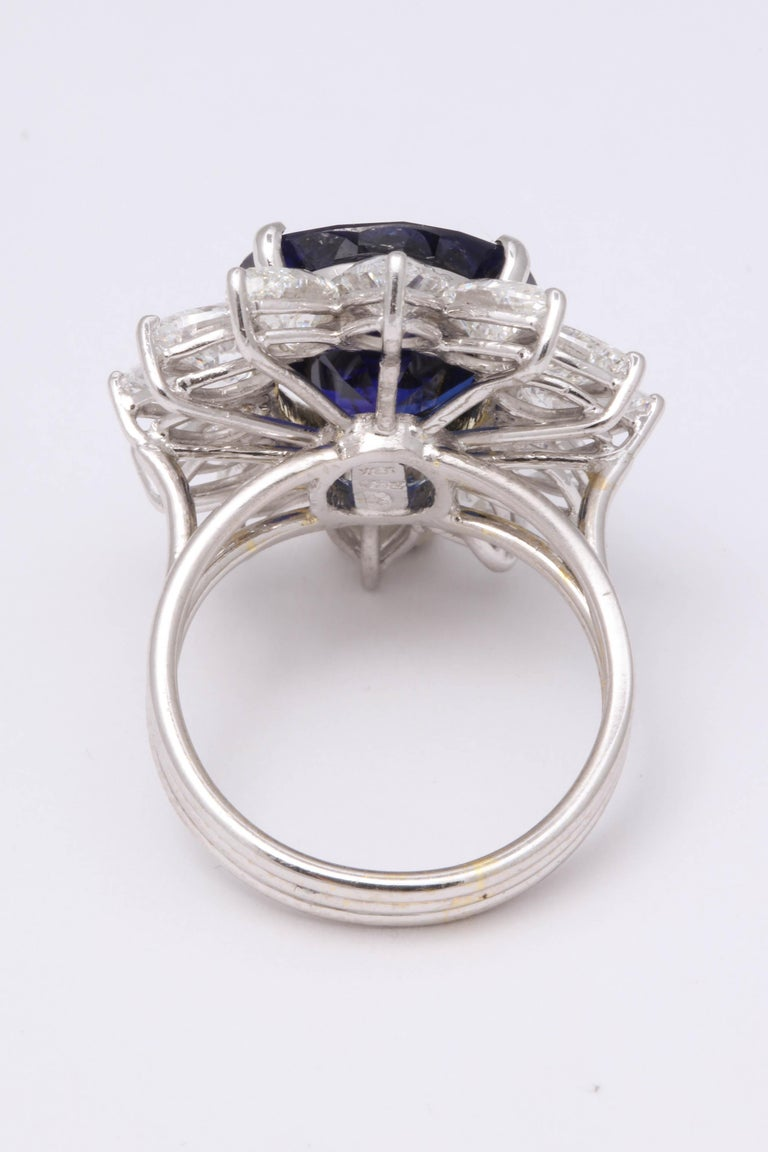 Natural Burma No Heat Blue Sapphire Ring For Sale 3