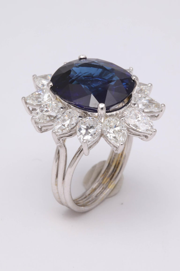 Natural Burma No Heat Blue Sapphire Ring For Sale 4