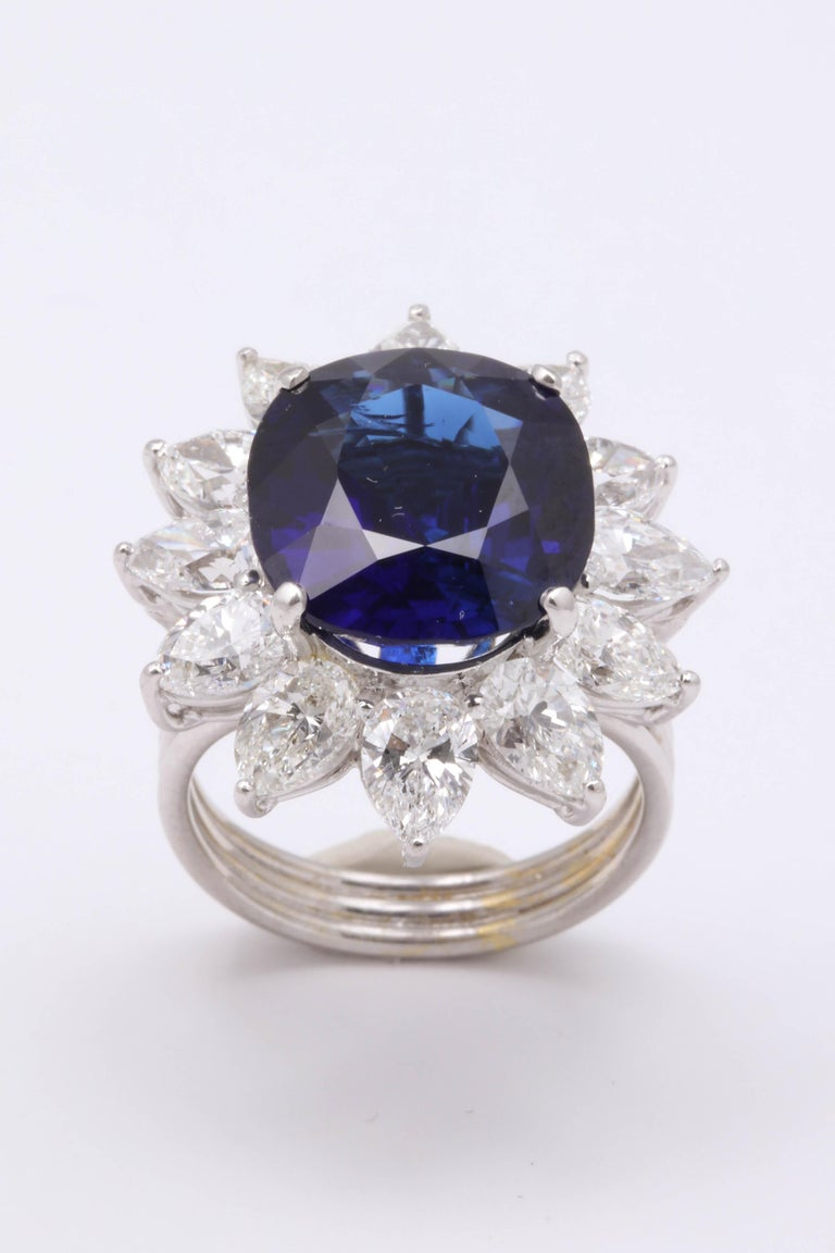 Natural Burma No Heat Blue Sapphire Ring For Sale 5