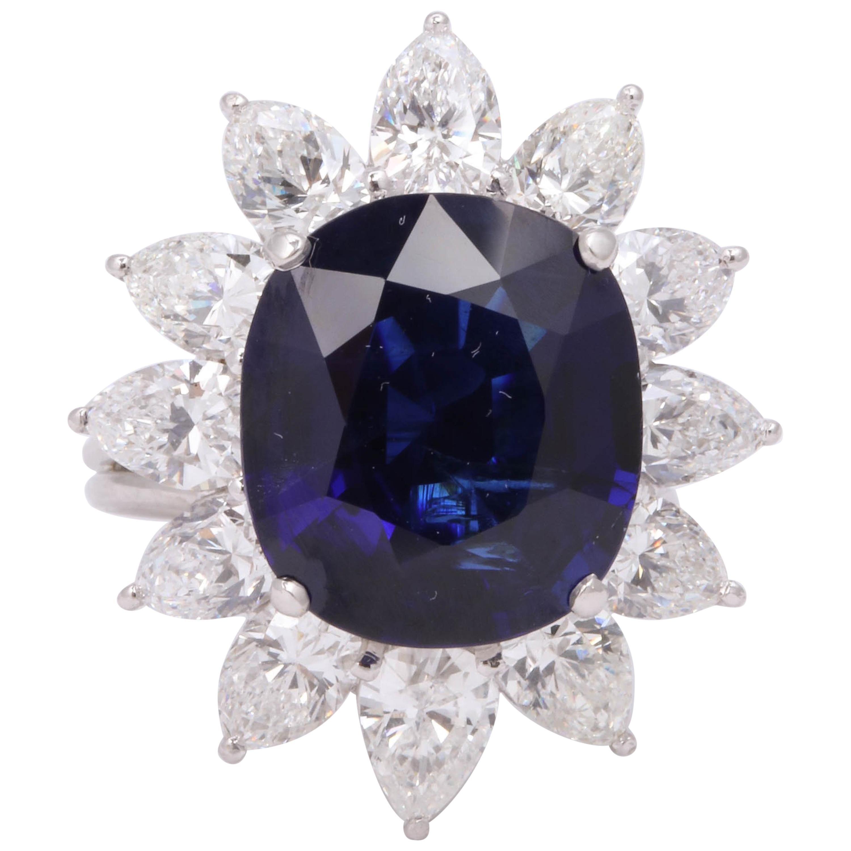 Natural Burma No Heat Blue Sapphire Ring