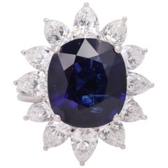 Natural Burma No Heat Blue Sapphire Ring