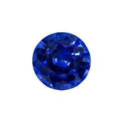 Natural Burma Sapphire GIA GRS Certified Unheated Royal Blue 3.01 Carat Round