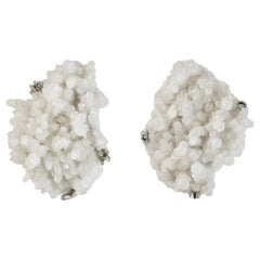 Natural Clusters Rock Crystal Sconces by Phoenix