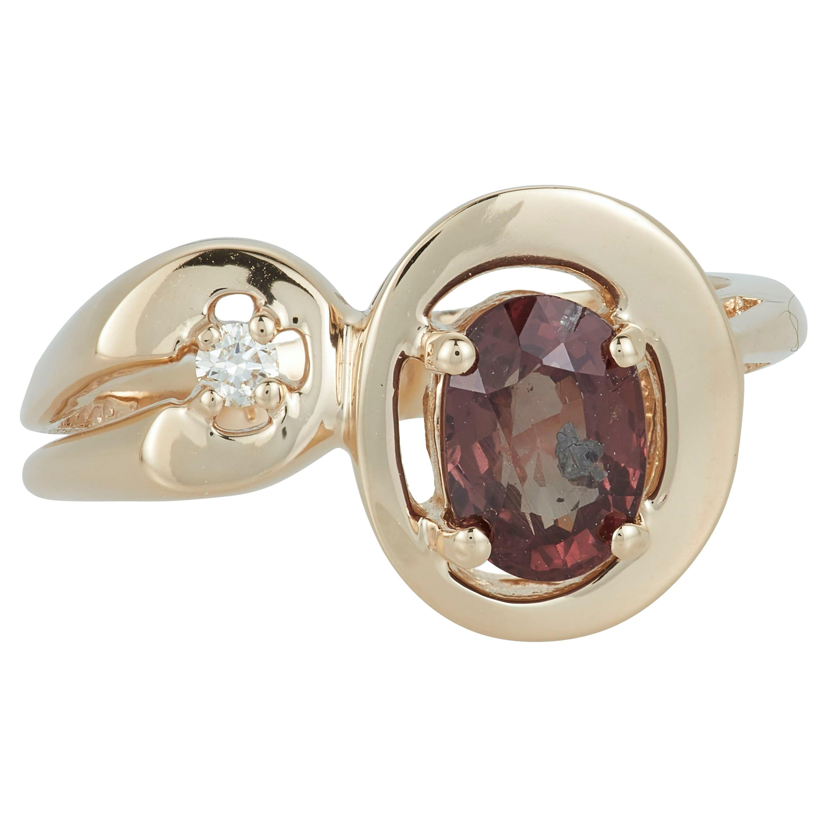 Natural Color Change Capella Star Diamond Fashion Toi et Moi Ring 14 Karat Gold