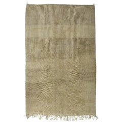 Natural Color Moroccan Berber Rug