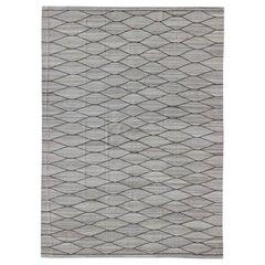 Natural Color-Tone Flat-Weave Kilim