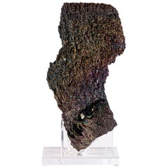 Natural Colorful Sculpture Silicon Carbide Mineral in Acrylic Base