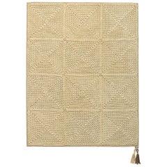 Natural Cream Outdoor Indoor Small Rug Handmade Crochet in UV Protected Yarn