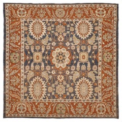 Natural Dye Antique Sultanabad Revival Rug from Mehraban