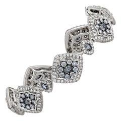 Natural Fancy Blue Diamond Bracelet, 3.90 Carats
