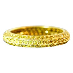 Natural Fancy Intense Yellow Diamond Band Ring by Pierre/Famille