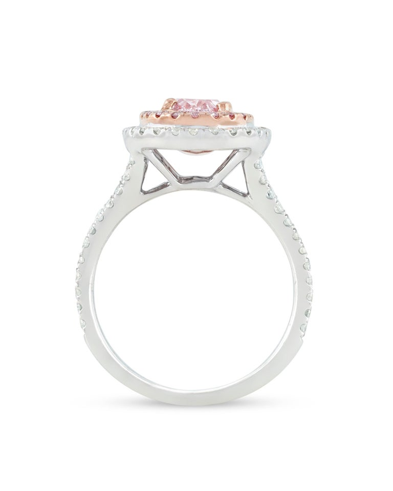 Contemporary Natural Fancy Light Pink Diamond Ring, 1.30 Carat For Sale