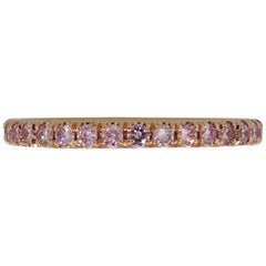 Natural Fancy Pink Diamond Eternity Band