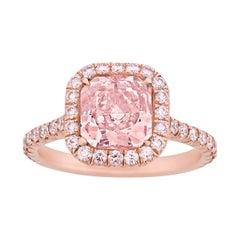 Natural Fancy Pink Diamond Ring, 2.01 Carat