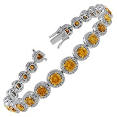 Natural Fancy Yellow and White Diamond Bracelet GIA Certified