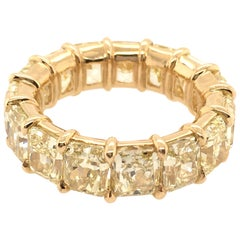 Natural Fancy Yellow Diamond Eternity Band