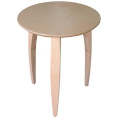 Natural Finish Northern Hard Maple Modern Side Table Made in USA by Peter Danko