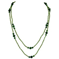 Natural Green Jade Necklace