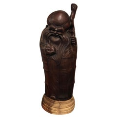 Natural Hand Carved Bamboo 'Fortune Man', China