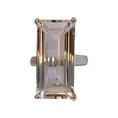 Natural Himalayan Rock Crystal Sterling Silver Ring