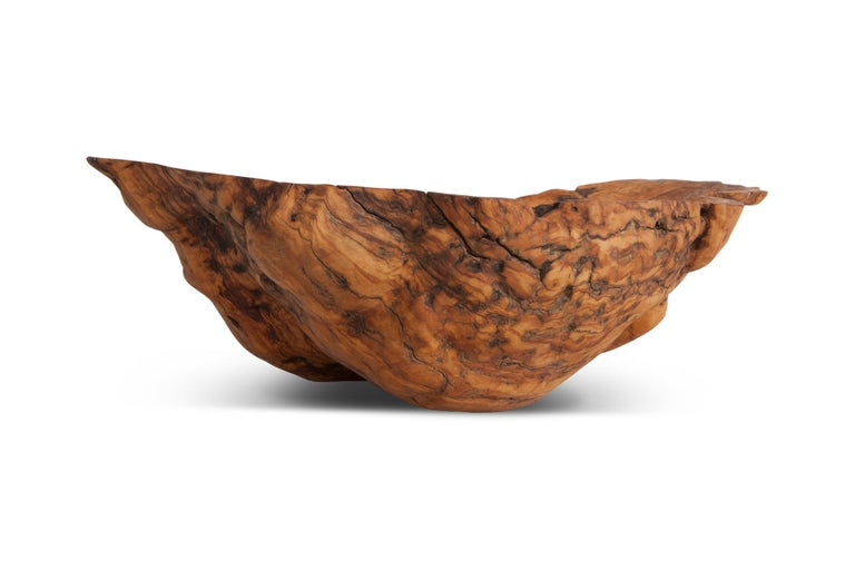 Natural History Wabi Sabi Olivewood Bowl or Sink In Good Condition For Sale In Antwerp, BE