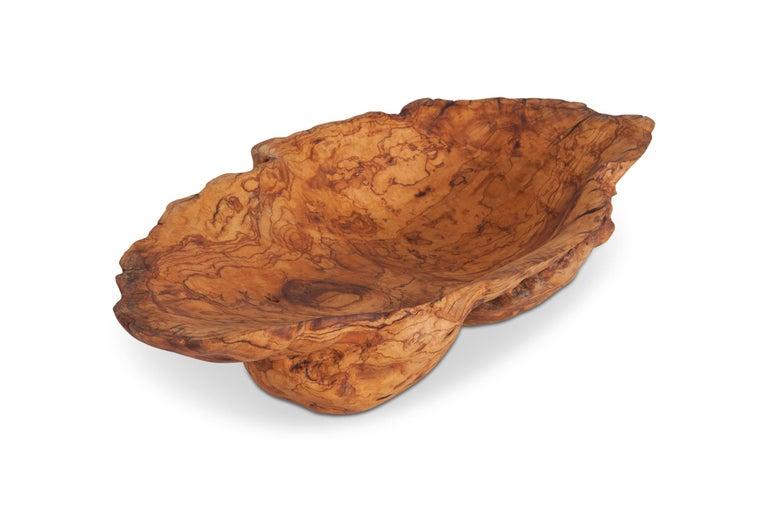 Natural History Wabi Sabi Olivewood Bowl or Sink For Sale 1