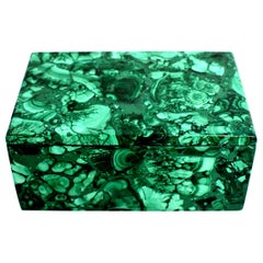 Natural Malachite Box, 1.75 lb Large Full Slab Jewelry Box