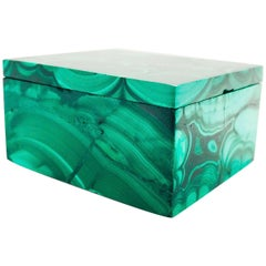 Natural Malachite Box, Gemstone Jewelry Box with Genuine Malachite
