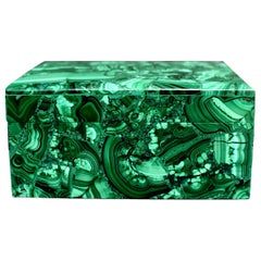 Natural Malachite Box, Large 3 lb Full Slab Jewelry Box