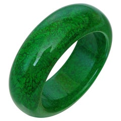 Natural Maw-Sit-Sit Statement Bangle Bracelet