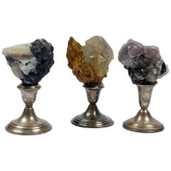 Natural Mineral Specimens on Sterling Silver Collection