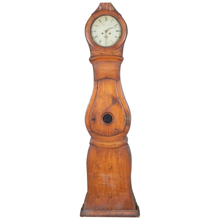 Natural Mora Clock Swedish Early 1800s Antique Country Style For Sale