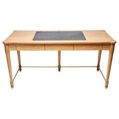 Natural Oak and Black Leather Niguel Desk by Lawson-Fenning