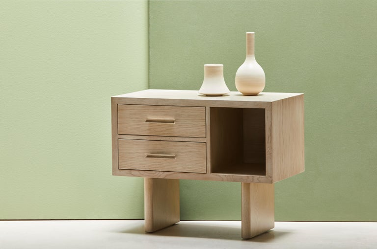 Natural Oak Inverness Nightstands by Lawson-Fenning For Sale 4