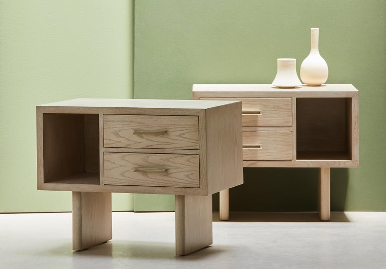 Natural Oak Inverness Nightstands by Lawson-Fenning For Sale 6