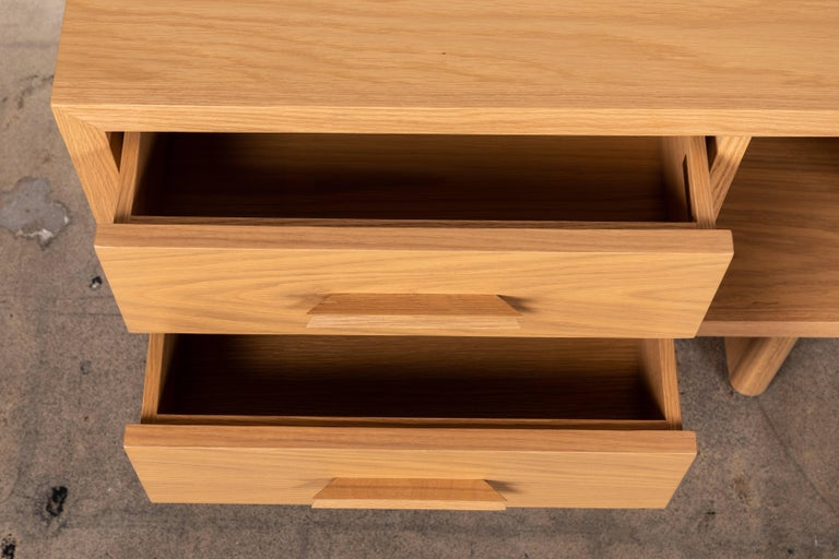 Natural Oak Inverness Nightstands by Lawson-Fenning In New Condition For Sale In Los Angeles, CA